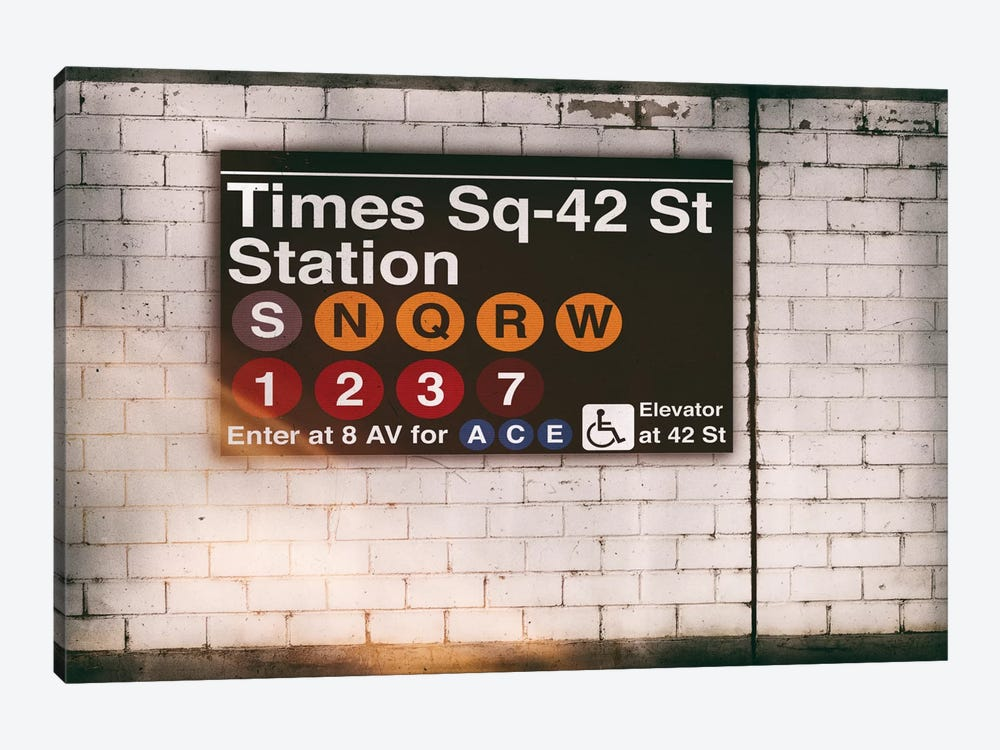 Subway Times Square - 42 St Station by Philippe Hugonnard 1-piece Canvas Print