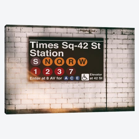 Subway Times Square - 42 St Station Canvas Print #PHD69} by Philippe Hugonnard Canvas Art