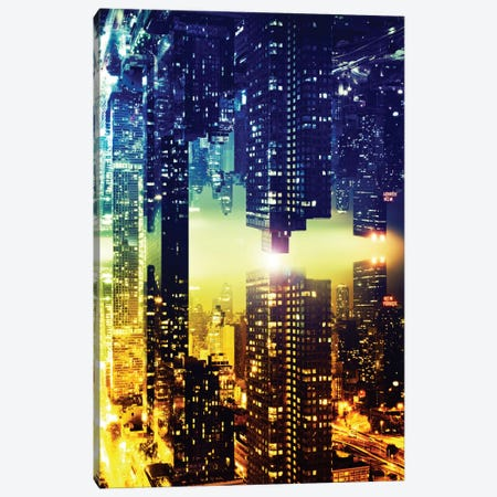 Double Sided - Manhattan Skyscapers Canvas Print #PHD6} by Philippe Hugonnard Canvas Art Print