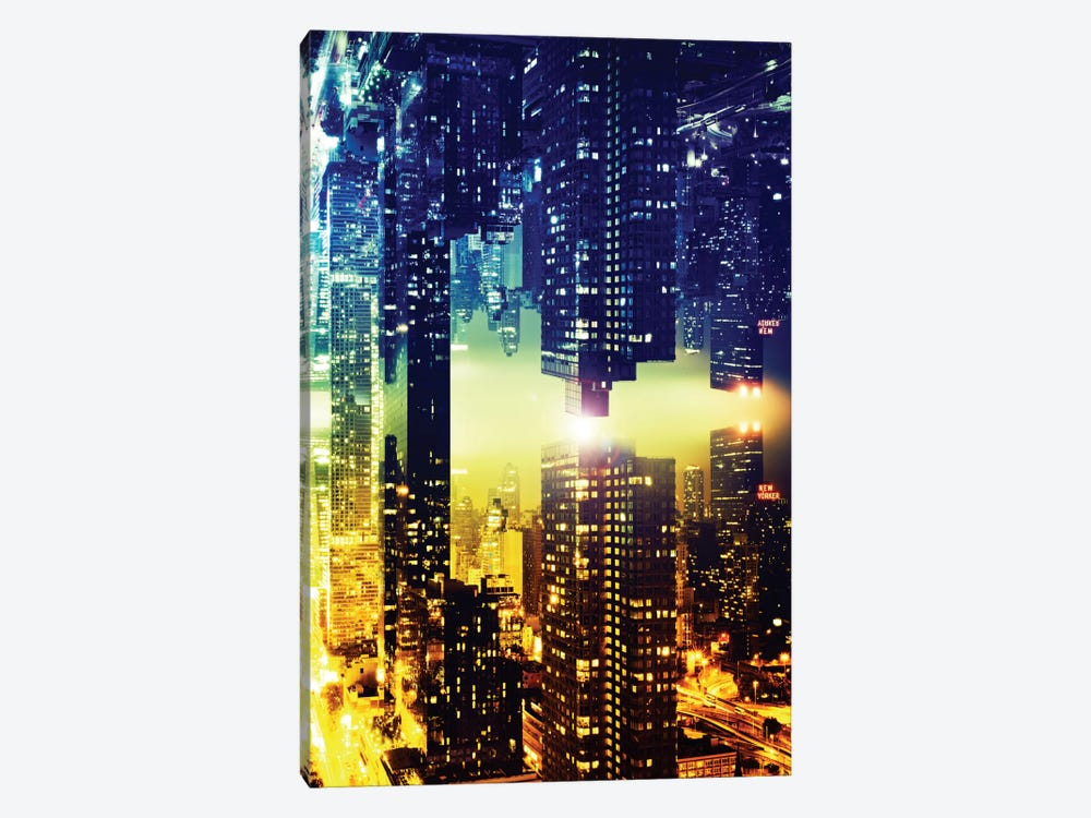 Double Sided - Manhattan Skyscapers by Philippe Hugonnard 1-piece Canvas Wall Art