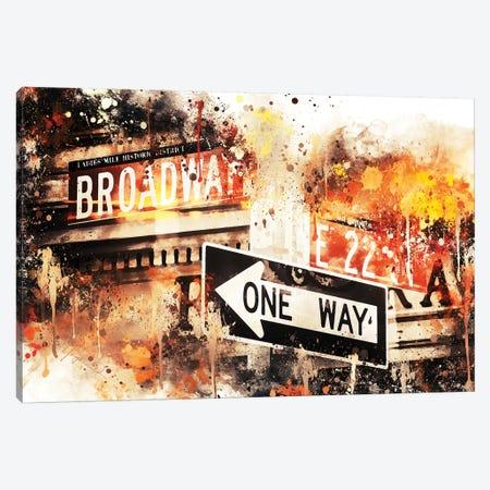 Broadway One Way Canvas Print #PHD703} by Philippe Hugonnard Art Print