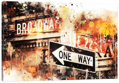 Broadway One Way Canvas Art Print