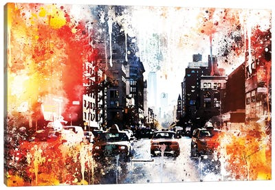 Busy Canvas Art Print