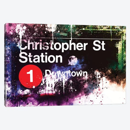 Christopher St Station Canvas Print #PHD707} by Philippe Hugonnard Canvas Art