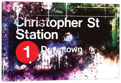 Christopher St Station Canvas Art Print