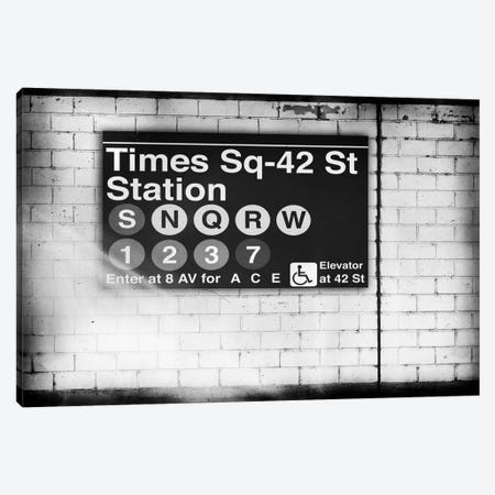 Subway Times Square - 42 Street Station - BW Canvas Print #PHD70} by Philippe Hugonnard Canvas Art Print