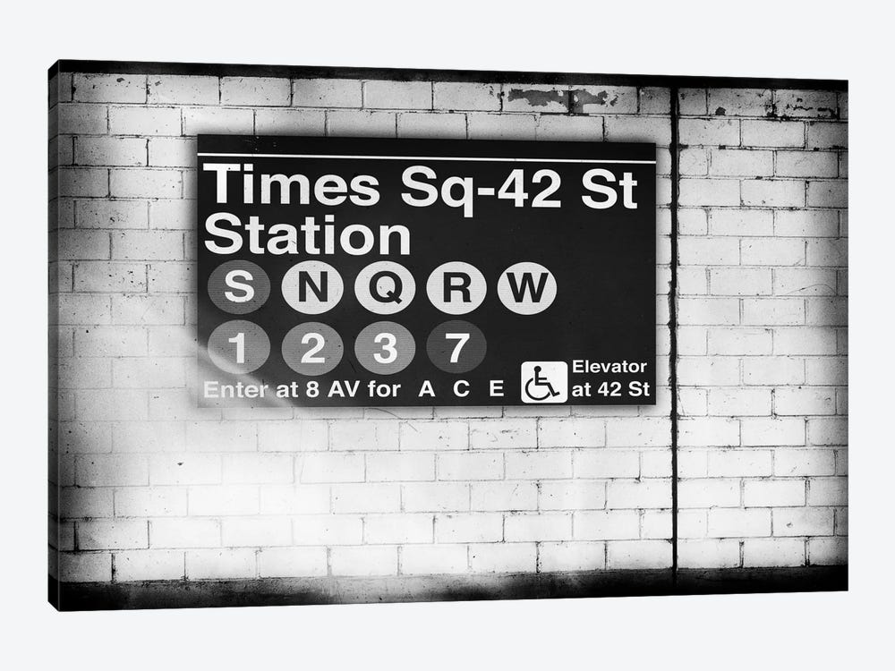 Subway Times Square - 42 Street Station - BW by Philippe Hugonnard 1-piece Art Print