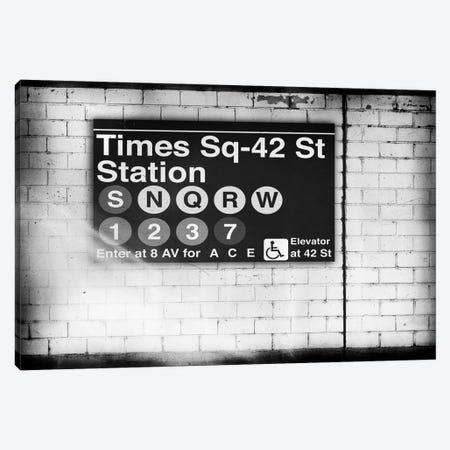 Subway Times Square - 42 Street Station - BW Canvas Print #PHD70} by Philippe Hugonnard Canvas Art Print