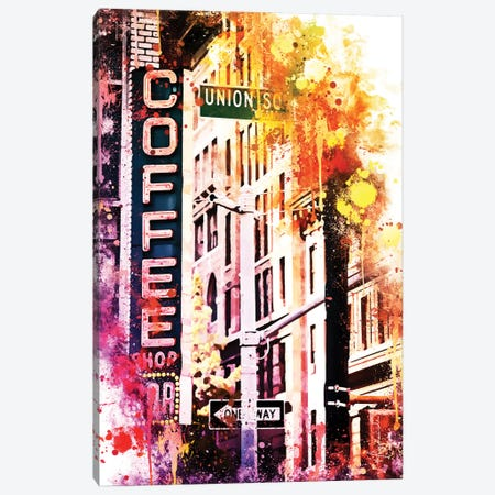 Coffee Shop Union Sq Canvas Print #PHD710} by Philippe Hugonnard Canvas Artwork