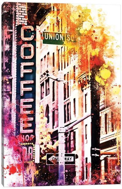 Coffee Shop Union Sq Canvas Art Print