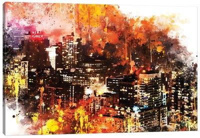Colorful Night Canvas Art Print