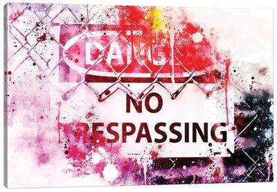 Danger ! Canvas Art Print