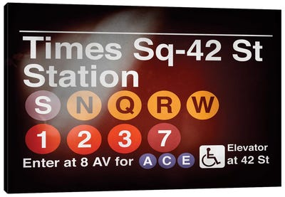 Subway Times Square - 42 Street Station Canvas Art Print