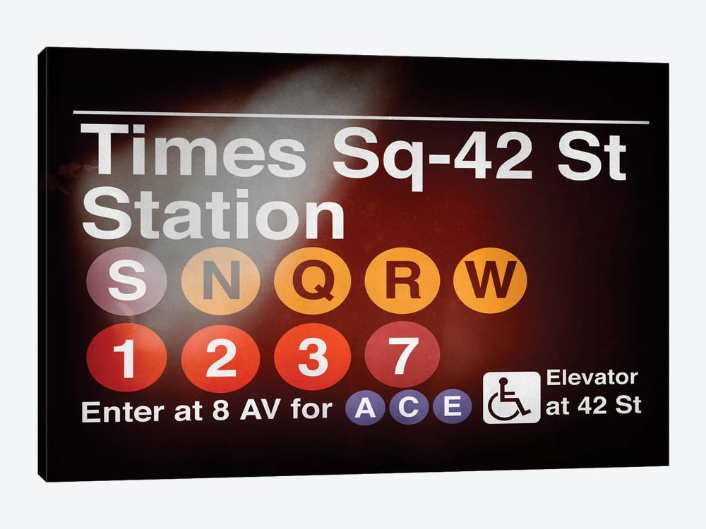 Subway Times Square - 42 Street Station by Philippe Hugonnard 1-piece Canvas Wall Art
