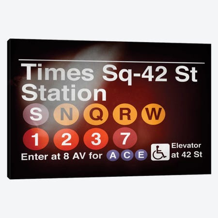 Subway Times Square - 42 Street Station Canvas Print #PHD71} by Philippe Hugonnard Canvas Print