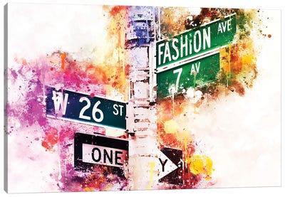 Fashion Ave Canvas Art Print