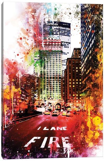 Fire Lane Canvas Art Print