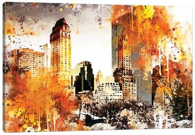 Golden Central Park Canvas Art Print