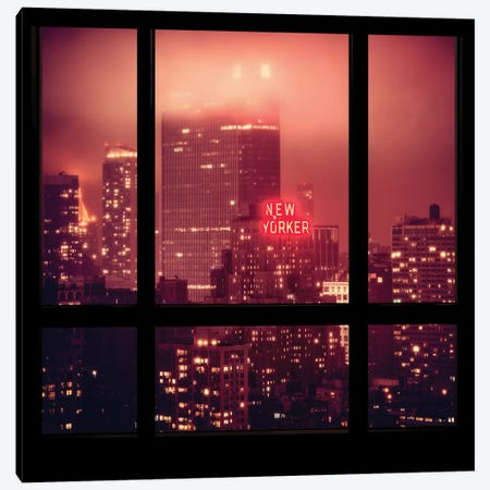 The New Yorker - Window View Canvas Print #PHD72} by Philippe Hugonnard Canvas Print