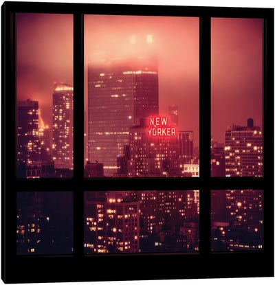 The New Yorker - Window View Canvas Print #PHD72