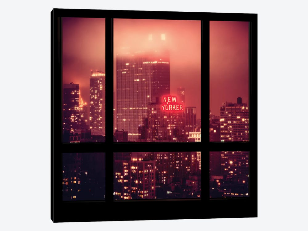 The New Yorker - Window View by Philippe Hugonnard 1-piece Canvas Print