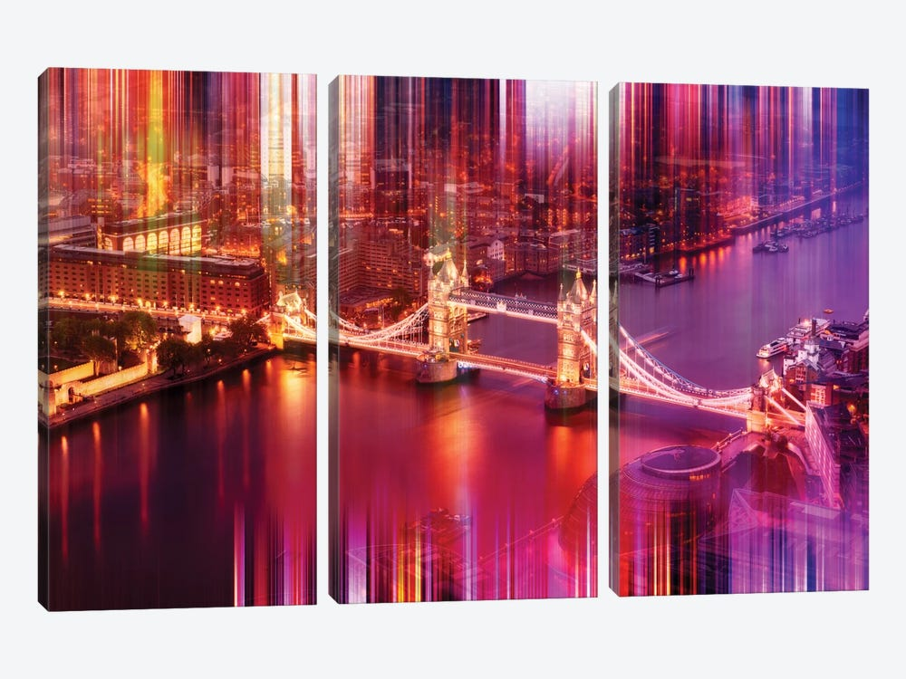 Famous Tower Bridge by Philippe Hugonnard 3-piece Canvas Artwork