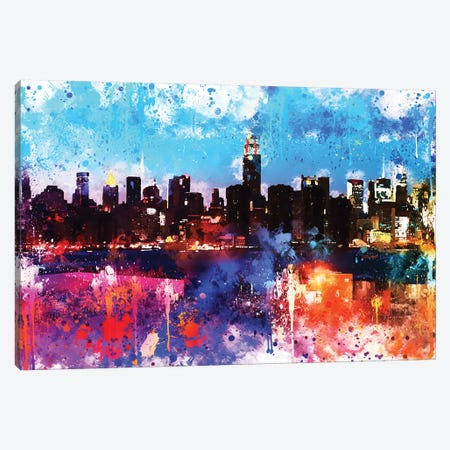 Manhattan Colors Sunset Canvas Print #PHD744} by Philippe Hugonnard Canvas Art