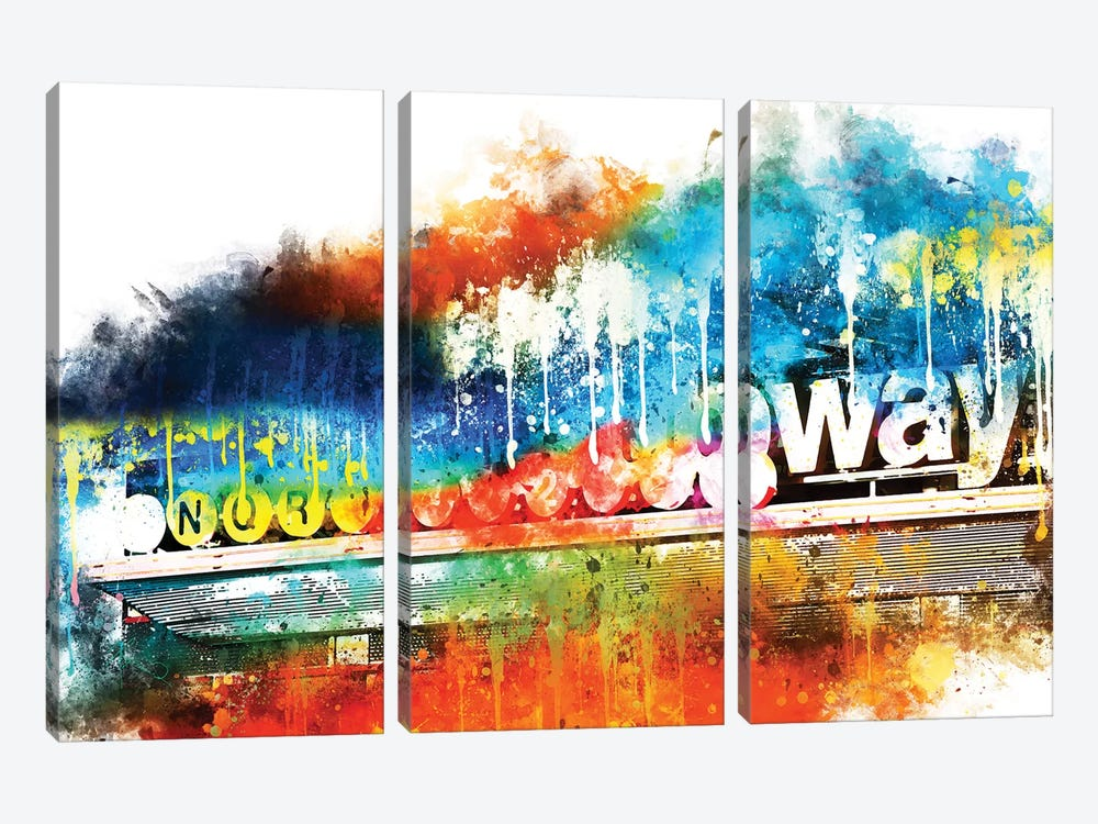 Manhattan Subway by Philippe Hugonnard 3-piece Canvas Wall Art