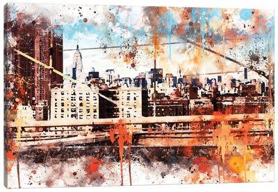 Manhattan View Canvas Art Print