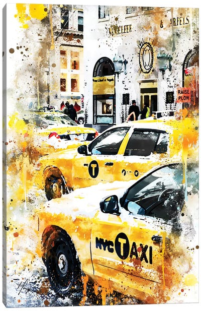 New York Taxis Canvas Art Print