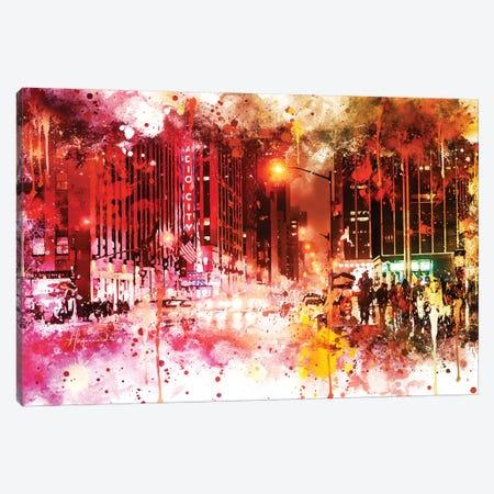 Red Night Canvas Print #PHD761} by Philippe Hugonnard Canvas Art Print