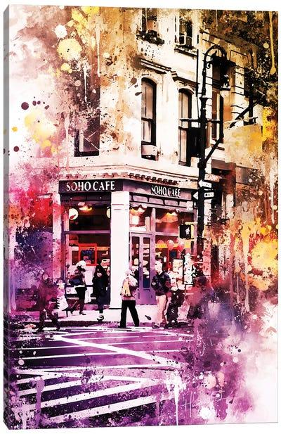 Soho Cafe Canvas Art Print
