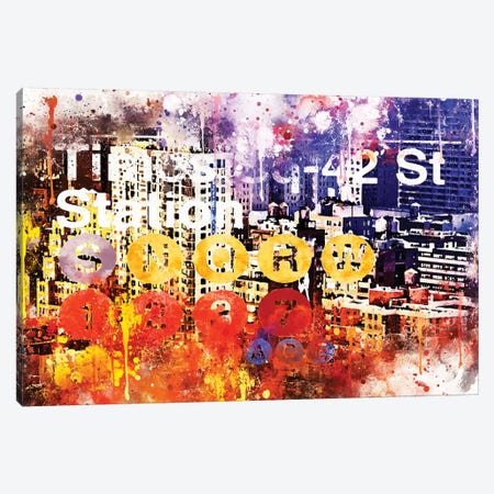 Subway 42 Street Canvas Print #PHD767} by Philippe Hugonnard Canvas Artwork