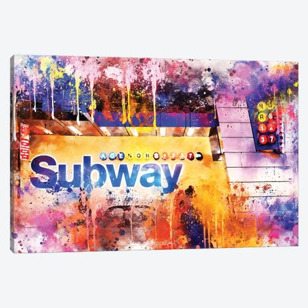 Subway Station Canvas Print #PHD769} by Philippe Hugonnard Canvas Print