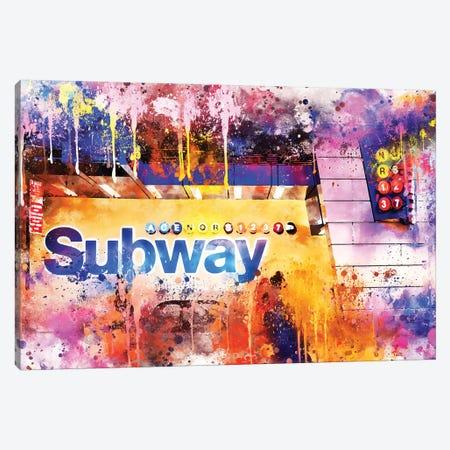 Subway Station Canvas Print #PHD769} by Philippe Hugonnard Canvas Print