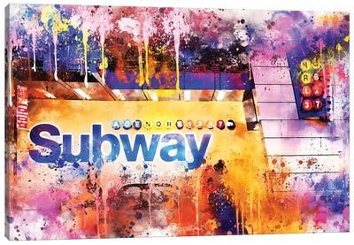 Subway Station Canvas Art Print