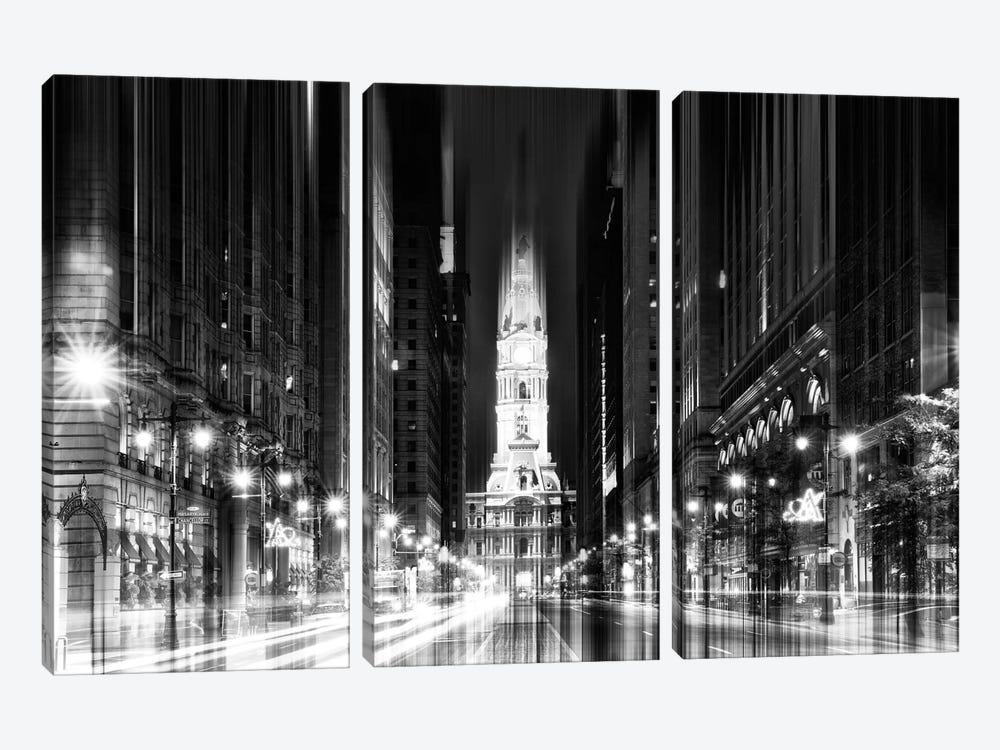 City Hall - Philadelphia by Philippe Hugonnard 3-piece Canvas Art Print
