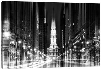 Urban Stretch Series - City Hall - Philadelphia Canvas Print #PHD76