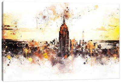 Sunset Skyline Canvas Art Print