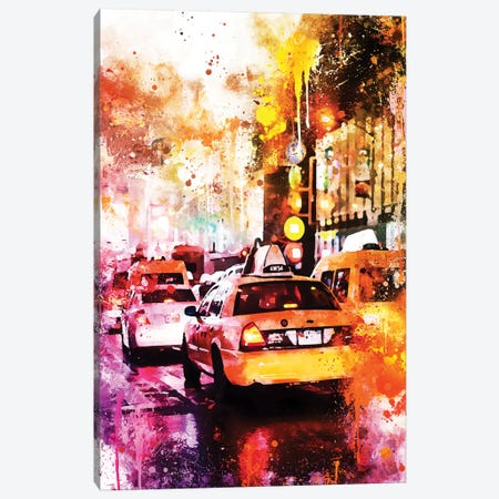 Taxis Night Canvas Print #PHD772} by Philippe Hugonnard Canvas Artwork