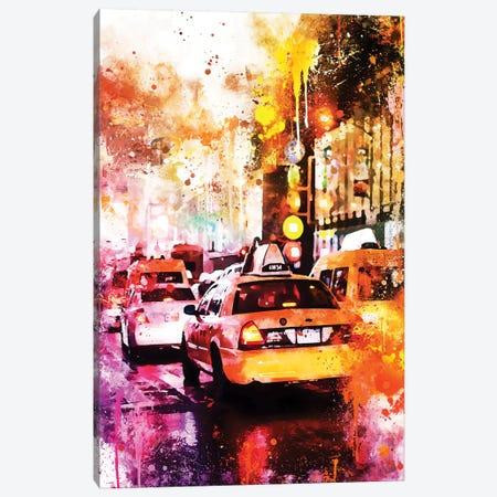 Taxis Night Canvas Print #PHD772} by Philippe Hugonnard Canvas Artwork