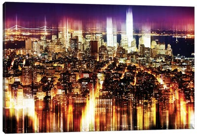 Manhattan Buildings Canvas Art Print