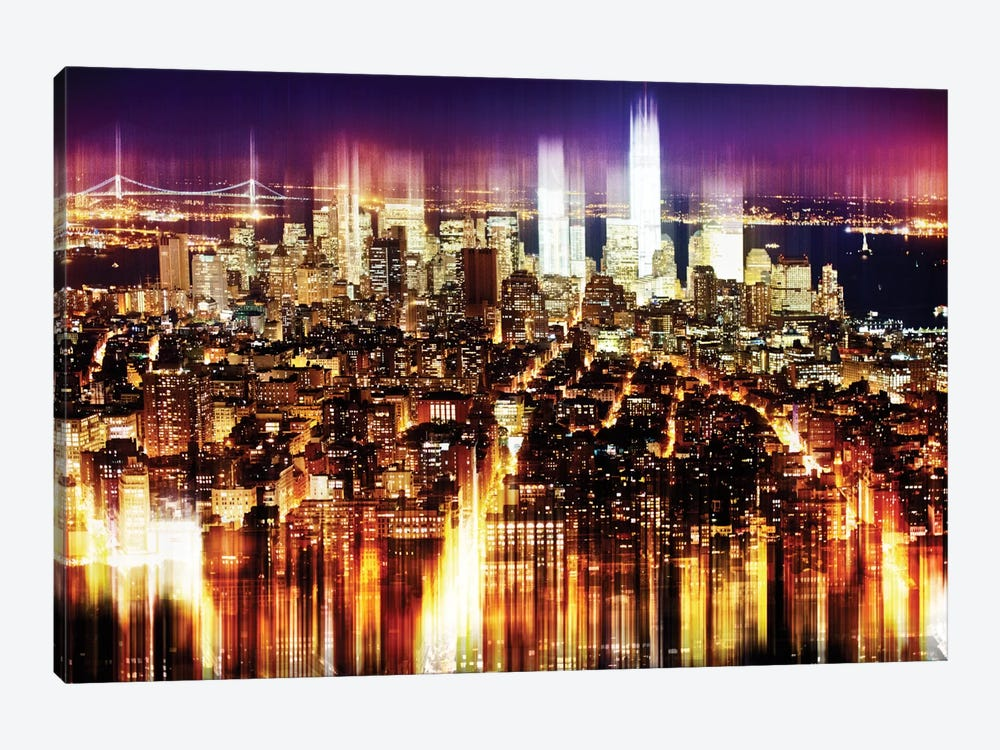 Manhattan Buildings 1-piece Canvas Wall Art