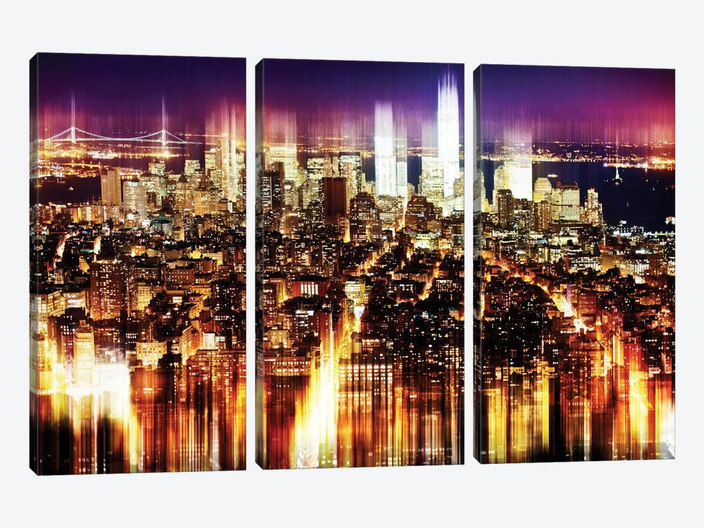 Manhattan Buildings by Philippe Hugonnard 3-piece Canvas Artwork