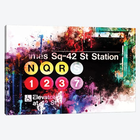 Times Sq 42 St Station Canvas Print #PHD783} by Philippe Hugonnard Art Print