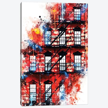 US Facade Canvas Print #PHD789} by Philippe Hugonnard Art Print