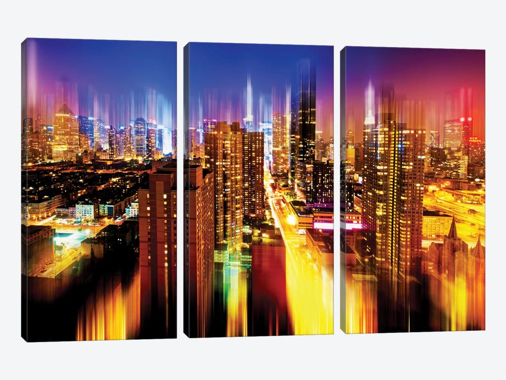 Manhattan Night by Philippe Hugonnard 3-piece Art Print