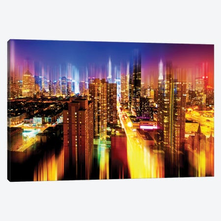 Manhattan Night Canvas Print #PHD78} by Philippe Hugonnard Canvas Art Print