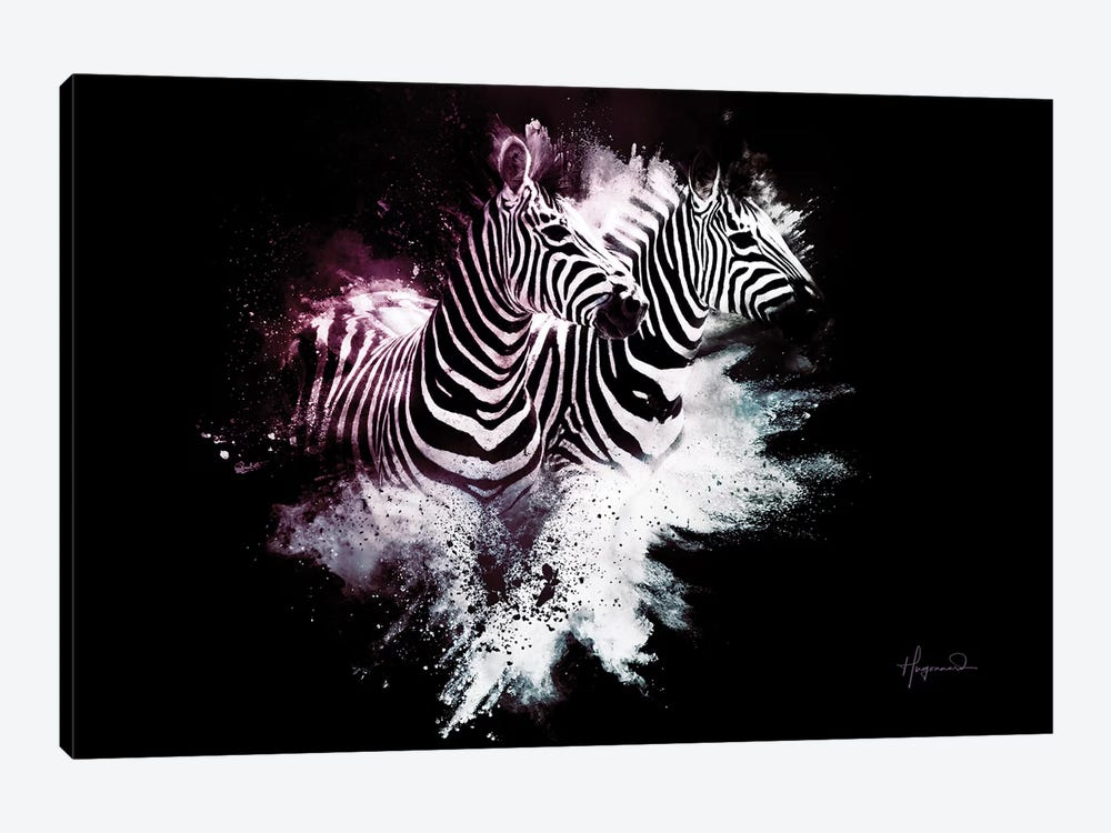 The Zebras by Philippe Hugonnard 1-piece Canvas Art Print