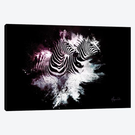 The Zebras Canvas Print #PHD806} by Philippe Hugonnard Canvas Print